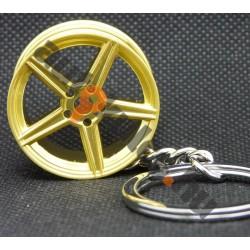 Felni arany kulcstartó